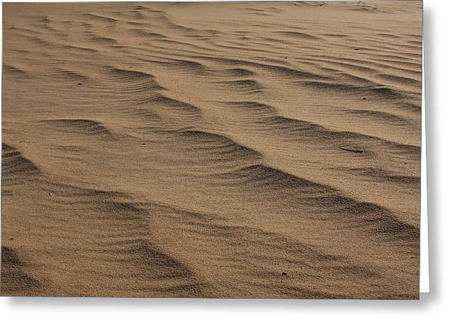 Cape Hatteras Ripples In The Sand-north Carolina Greeting Card by Mountains to the Sea Photo