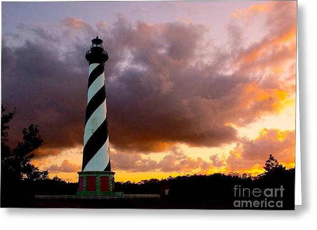 Cape Hatteras Sunset Greeting Card