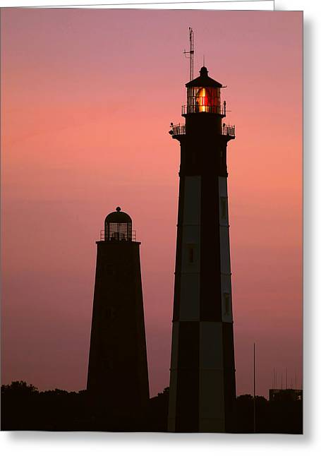 Cape Henry Lighthouses  Greeting Card