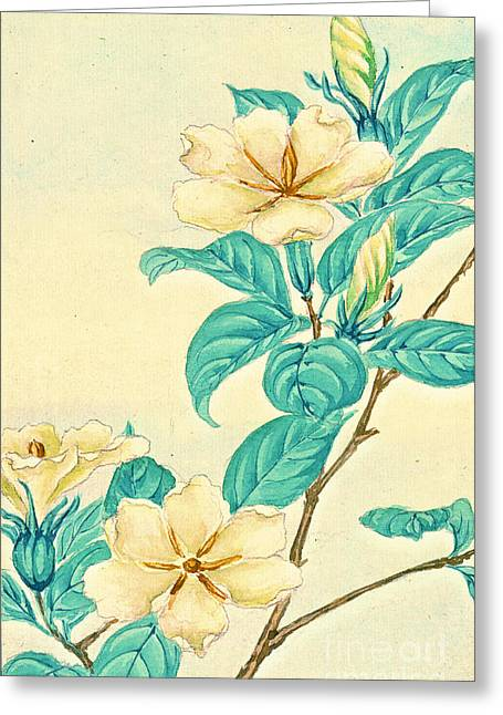 Cape Jasmine 1870 Greeting Card by Padre Art