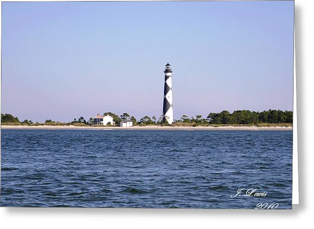 Cape Lookout Light Greeting Card by James Lewis