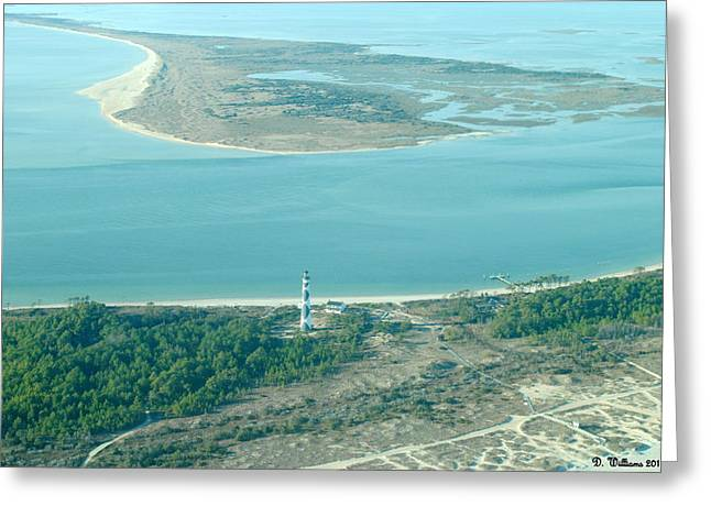 Cape Lookout Lighthouse From The Air Greeting Card