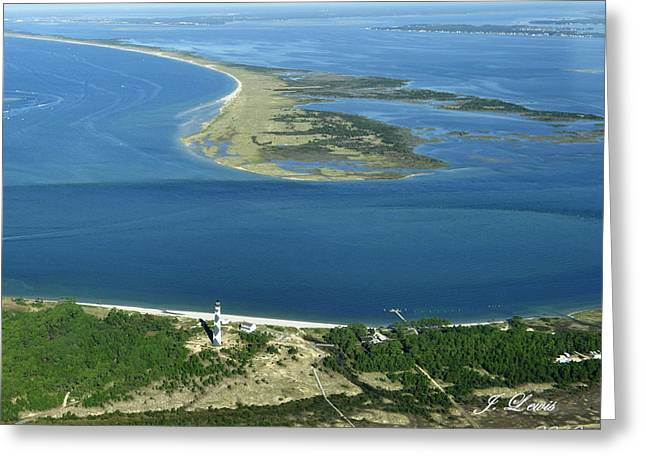 Cape Lookout Looking Down Shakleford Banks Greeting Card by James Lewis