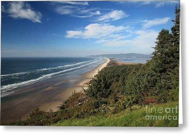 Cape Lookout Oregon Greeting Card by Adam Jewell