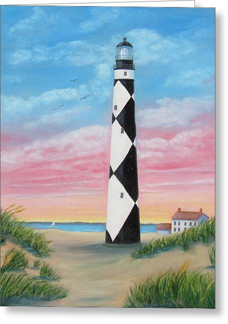 Cape Lookout Sunset Greeting Card by Fran Brooks