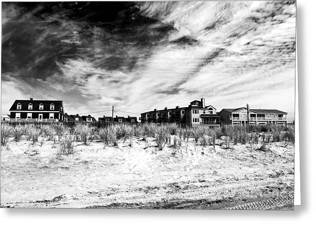 Cape May Beach Houses Greeting Card by John Rizzuto