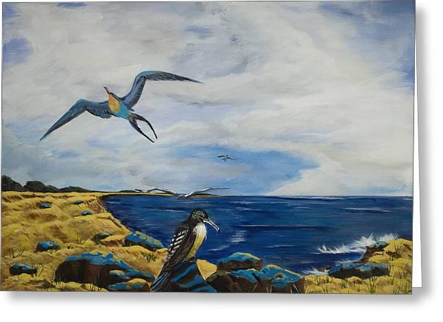 Cape May Gulls Greeting Card by Susan Culver