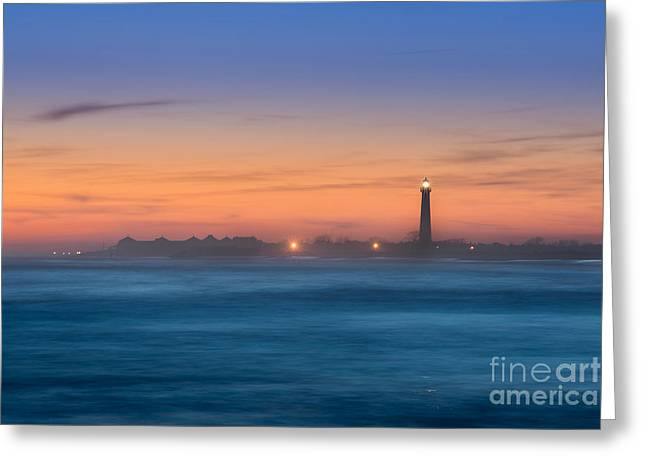 Cape May Lighthouse Sunset Greeting Card