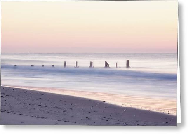 Cape May Ocean Dawn Greeting Card by Tom Singleton