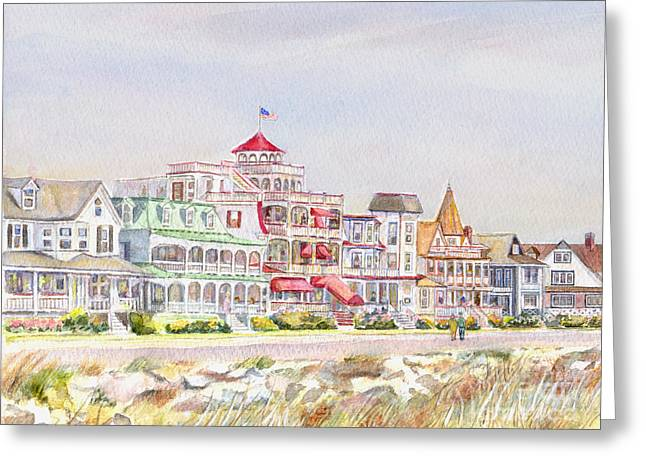 Cape May Promenade Cape May New Jersey Greeting Card by Pamela Parsons