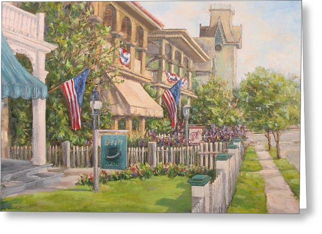 Cape May Street Scene Greeting Card by Michele Tokach