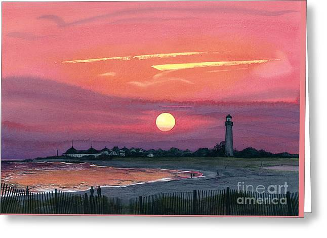 Cape May Sunset Greeting Card by Barbara Jewell