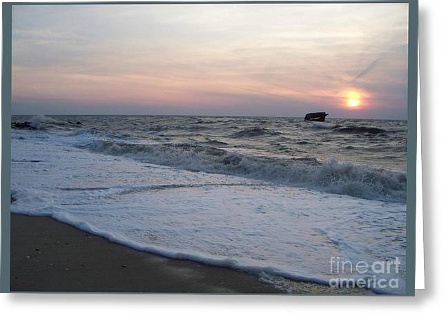 Cape May Sunset Beach Nj Greeting Card