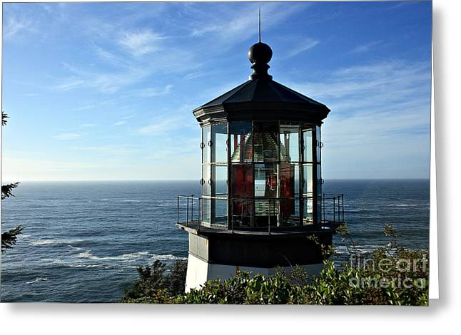 Cape Meares Lighthouse Greeting Card by Christian Carollo