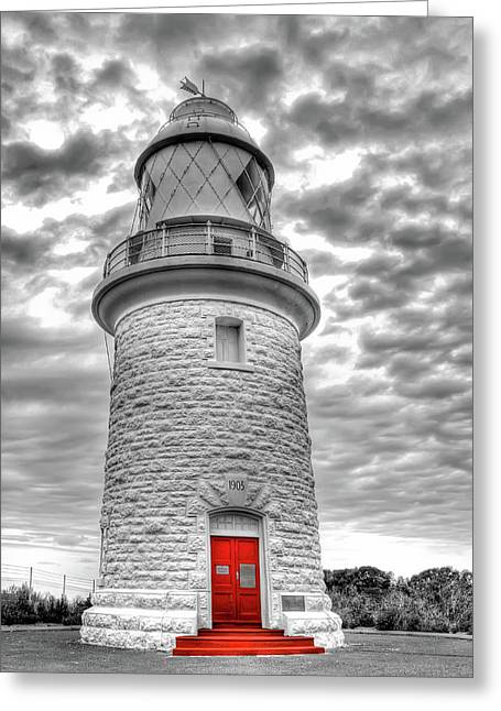 Greeting Card featuring the photograph Cape Naturaliste Lighthouse by Geraldine Alexander