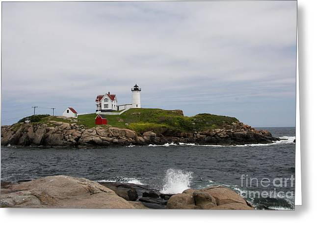 Cape Neddick - Nubble Lighthouse Greeting Card by Christiane Schulze Art And Photography