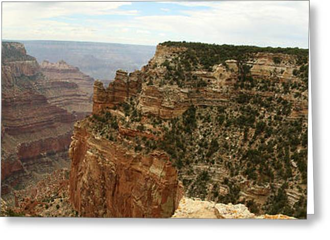 Cape Royal Panorama View Grand Canyon Greeting Card by Christiane Schulze Art And Photography