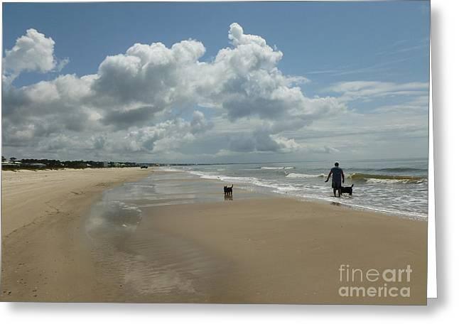 Cape San Blas Beach Greeting Card by Cathi Williams
