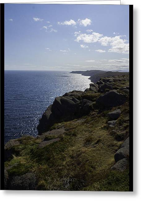 Cape Spear Coast Line  Greeting Card