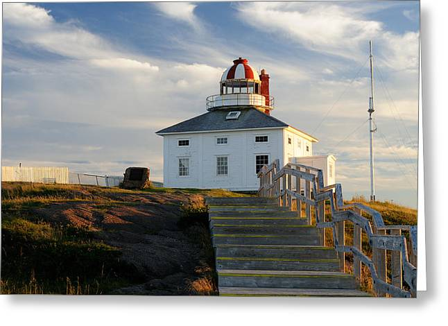 Cape Spear Newfoundland Lighthouse Greeting Card by Norman Pogson