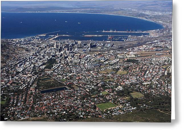 Cape Town Skyline  Greeting Card by Aidan Moran