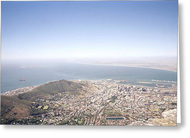 Cape Town Panorama Greeting Card by Shaun Higson