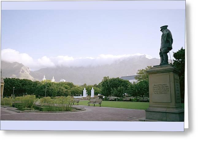 Cape Town Twilight Greeting Card by Shaun Higson