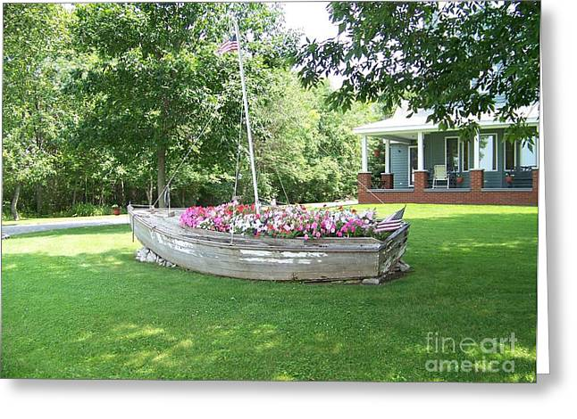Cape Vincent Flowerboat Greeting Card by Kevin Croitz