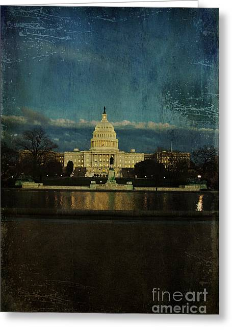 Capitol Blues Greeting Card by Terry Rowe