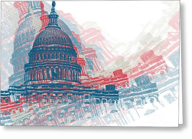 Capitol Crisis Greeting Card