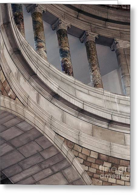 Capitol Curves Greeting Card by Art Whitton