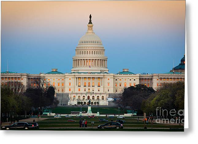 Capitol Hill Greeting Card by Inge Johnsson