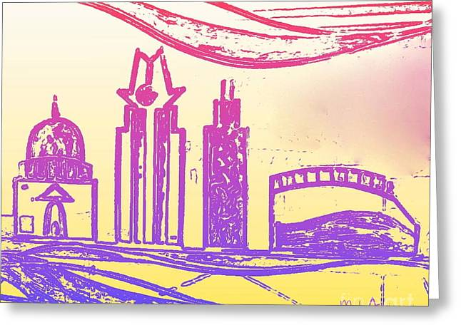 Capitol Of Texas 5 Greeting Card by Mark Ansier
