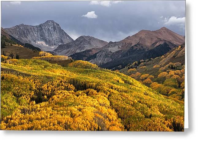 Capitol Peak In Snowmass Colorado Greeting Card