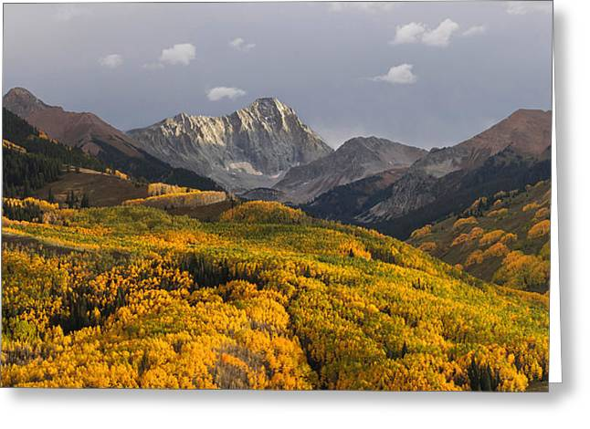 Greeting Card featuring the photograph Capitol Peak Panorama by Aaron Spong