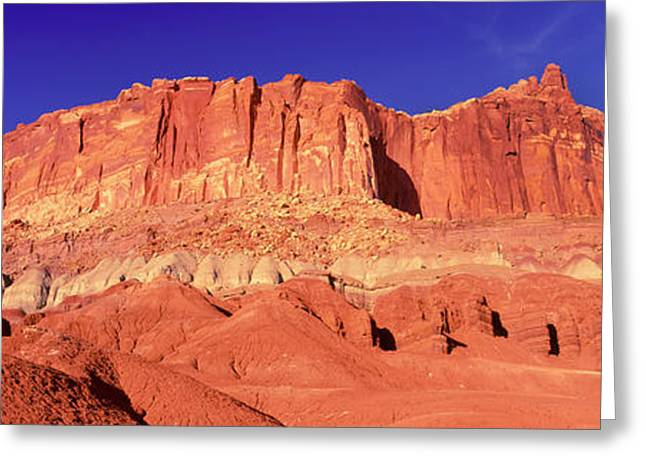 Capitol Reef National Park Against Blue Greeting Card by Panoramic Images