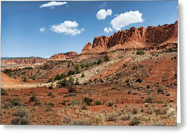 Greeting Card featuring the photograph Capitol Reef Panorama No. 1 by Tammy Wetzel