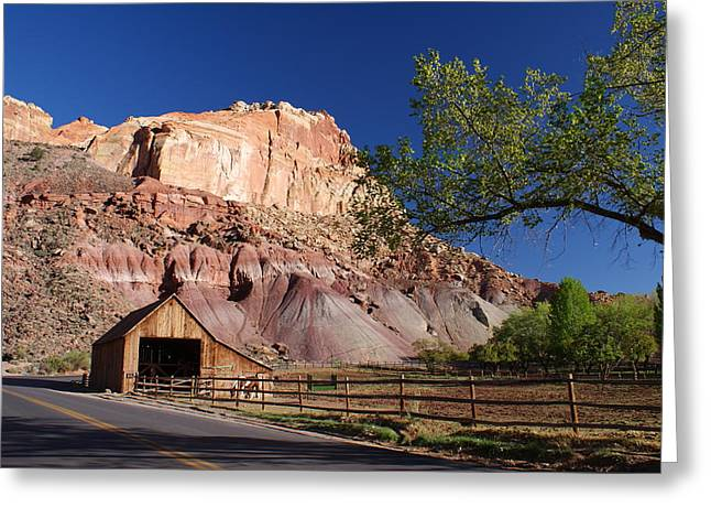 Capitol Reef Ranch Greeting Card by Michael J Bauer