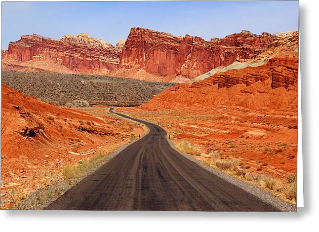 Capitol Reef Road Vii Greeting Card