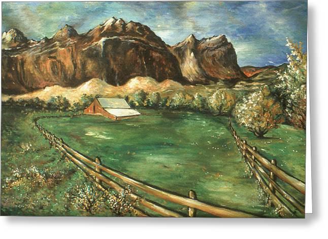 Capitol Reef Utah - Landscape Art Painting Greeting Card
