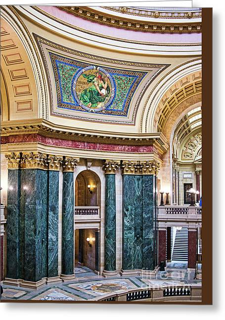 Capitol - Madison - Wisconsin Greeting Card by Steven Ralser