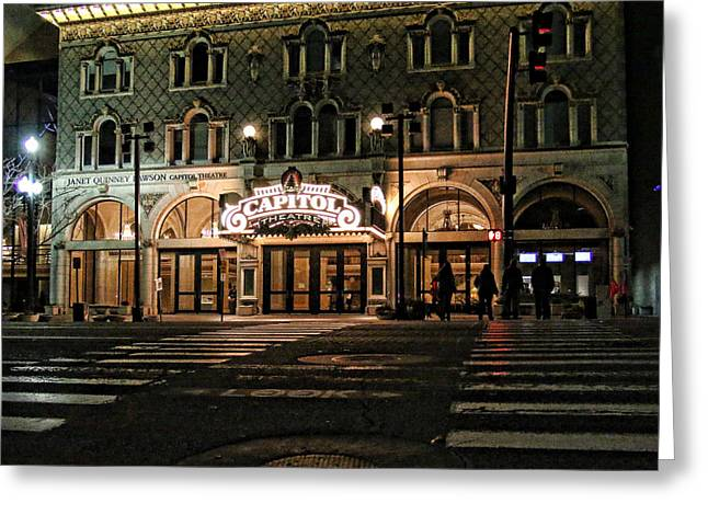 Capitol Theatre Greeting Card by Ely Arsha