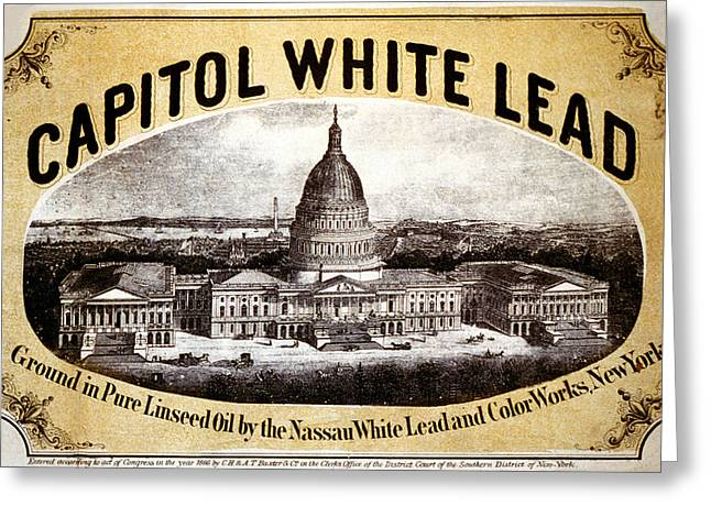 Capitol White Lead Greeting Card