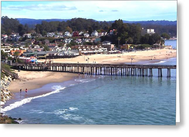 Capitola Beach Greeting Card by Art Block Collections