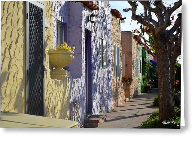 Capitola Beach Homes Greeting Card by Alex King