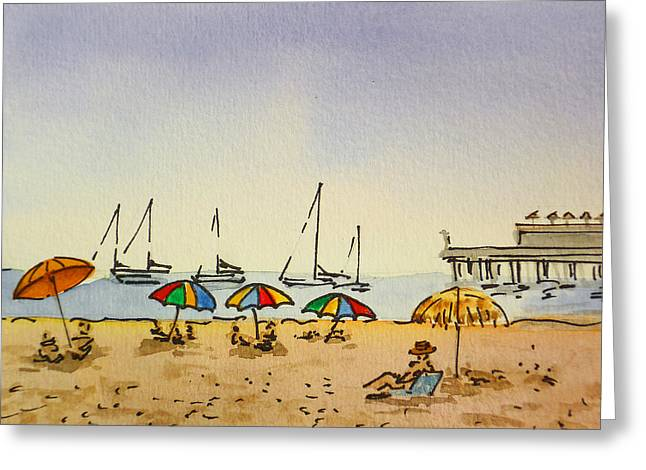 Capitola - California Sketchbook Project  Greeting Card by Irina Sztukowski