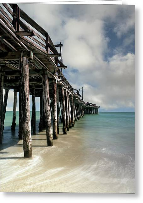 Capitola Pier Greeting Card by Chris Frost