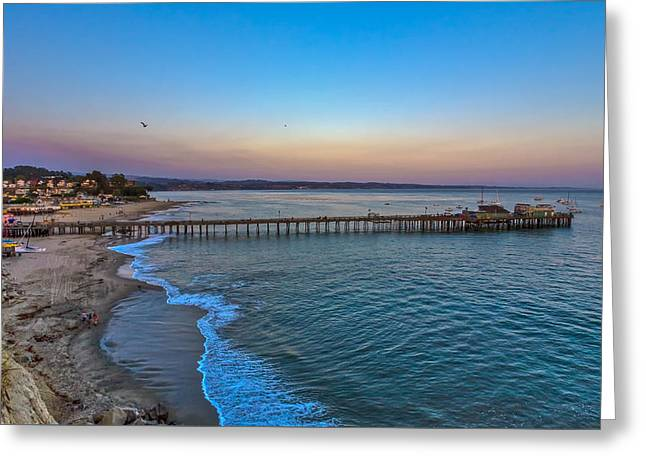 Capitola Pier Greeting Card by Tommy Farnsworth