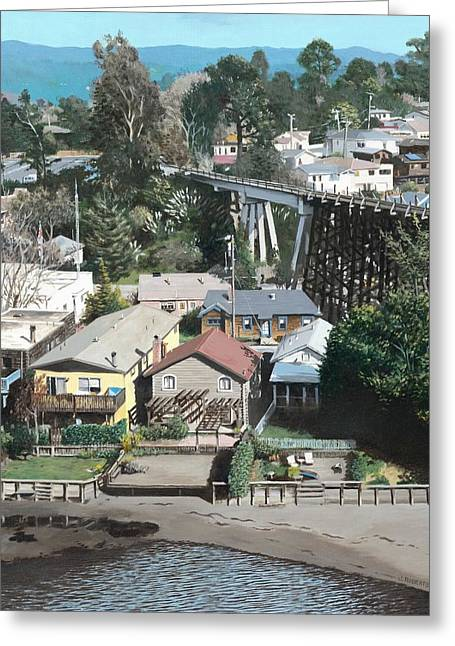 Capitola Trestle Greeting Card by James Robertson