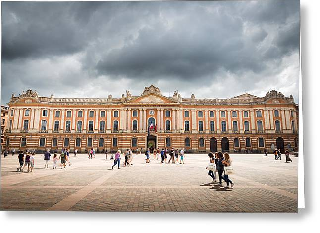 Capitole De Toulouse Greeting Card by Semmick Photo